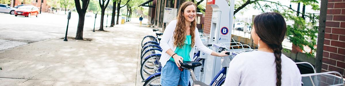 Students Biking